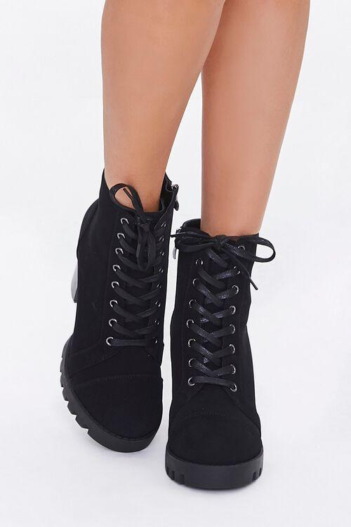 Faux Nubuck Block Heel Booties, image 4