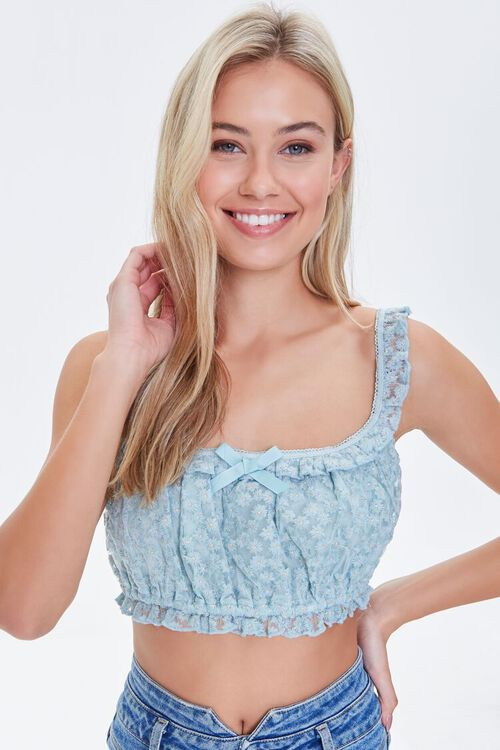 Daisy Lace Crop Top, image 2