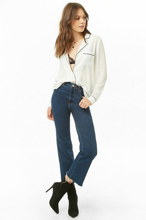 Sheer Pajama-Inspired Shirt, image 4