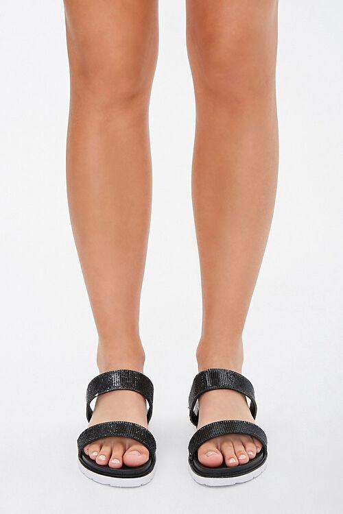 Faux Gem Double-Strap Sandals, image 2
