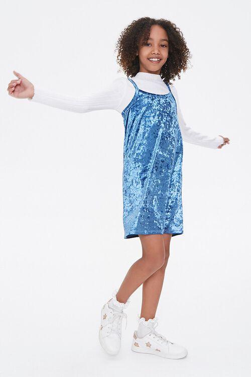 Girls Velvet Cami Dress (Kids), image 4