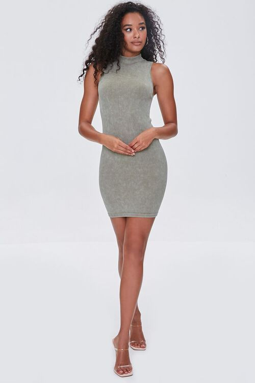 OLIVE Seamless Ribbed Bodycon Tank Dress, image 4