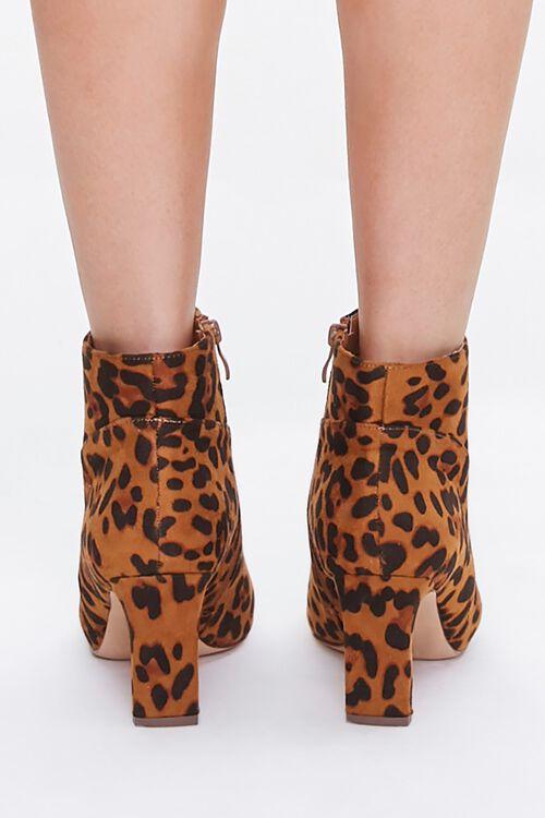 Leopard Print Block Heel Booties, image 3