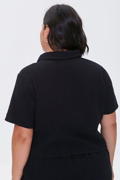 BLACK Plus Size Textured Shirt, image 3