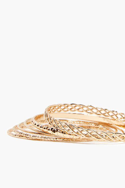 GOLD Textured Bangle Bracelet Set, image 2