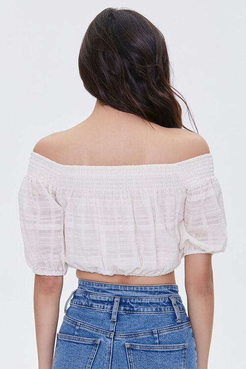 Shadow-Striped Off-the-Shoulder Crop Top, image 3
