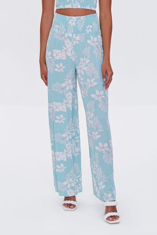 Tropical Floral Print Pants, image 2