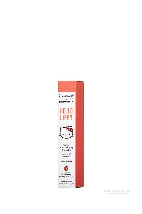 WHITE/RED The Crème Shop HELLO LIPPY Moisturizing Tinted Lip Balm - Strawberry Sweetheart, image 3