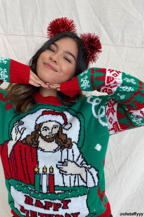 Happy Birthday Jesus Graphic Sweater, image 1