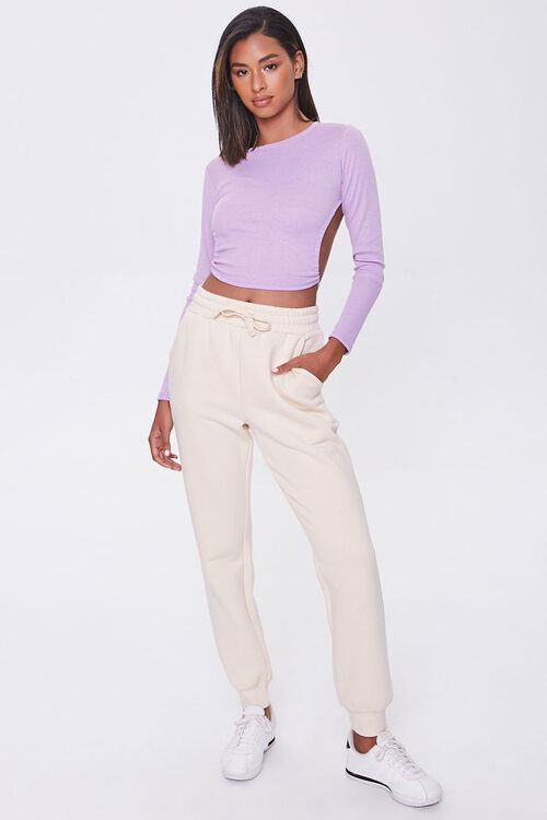 Ribbed Open-Back Crop Top, image 4
