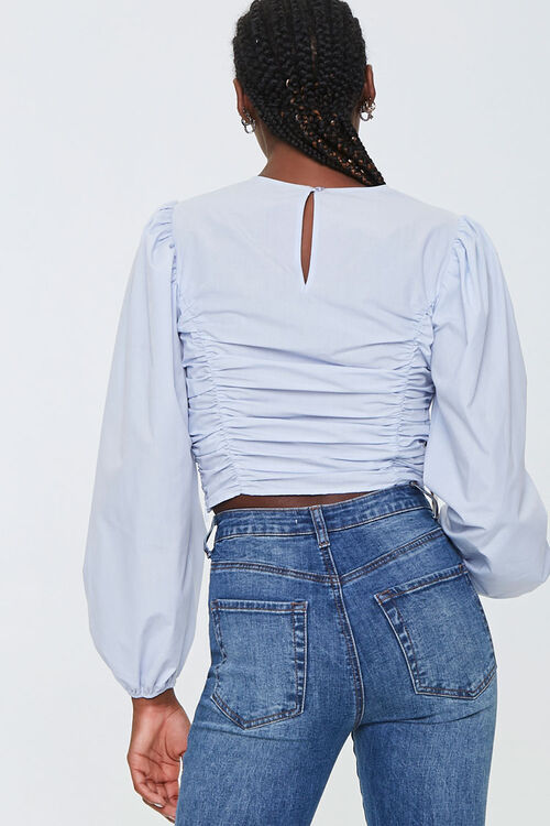 Ruched Poplin Top, image 3