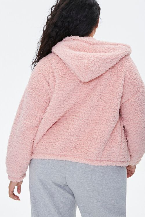 Plus Size Faux Shearling Zip-Up Hoodie, image 3