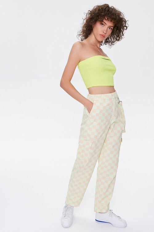 Checkered Cargo Pants, image 1