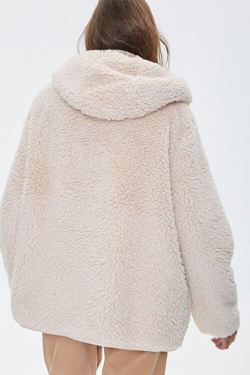 Reversible Faux Fur Hooded Coat, image 3