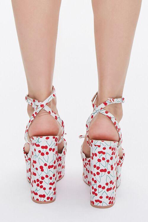 Cherry Print Block Heels, image 3