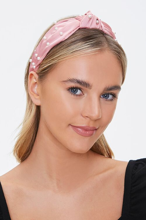 Knotted Faux Pearl Headwrap, image 1