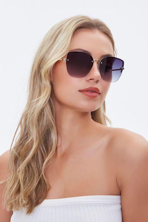 Rimless Tinted Sunglasses, image 1