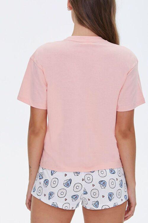 Doughnut Tee & Shorts Pajama Set, image 3