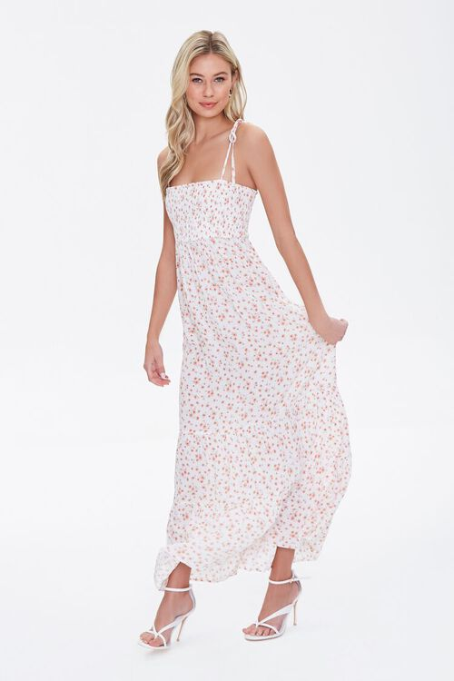 Floral Print Self-Tie Maxi Dress, image 2
