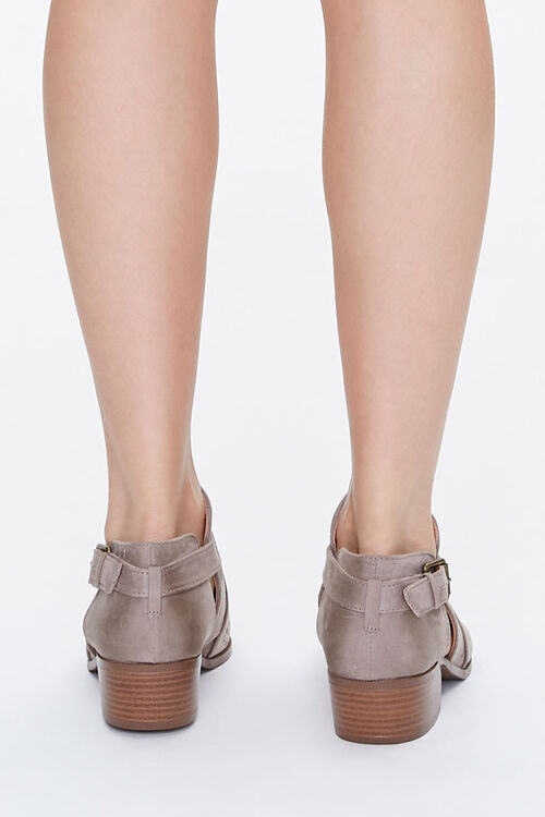 Perforated Buckled Booties, image 3