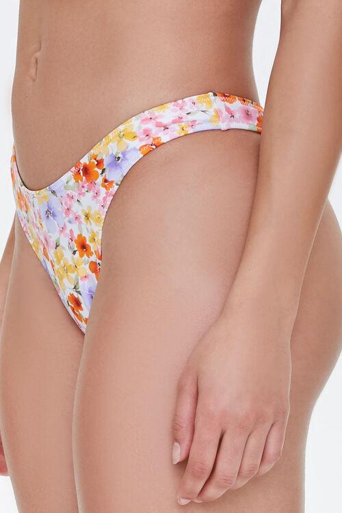 Floral Cheeky-Cut Bikini Bottoms, image 3