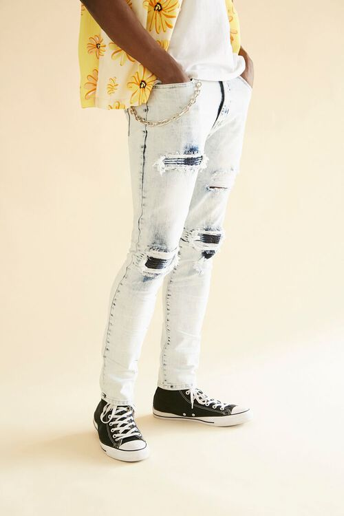 Distressed Bleach Wash Skinny Jeans, image 6