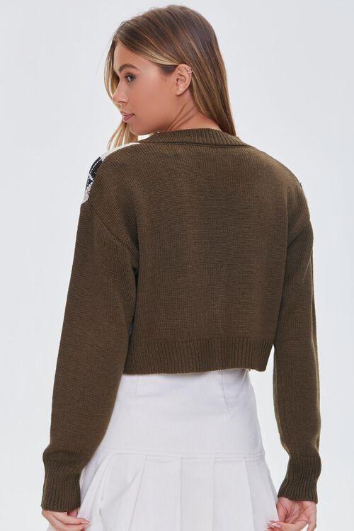 BROWN/MULTI Argyle Bandeau & Cardigan Sweater Set, image 3