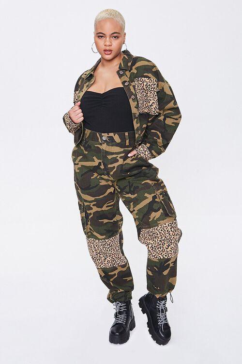 Plus Size Camo Leopard Jacket, image 4