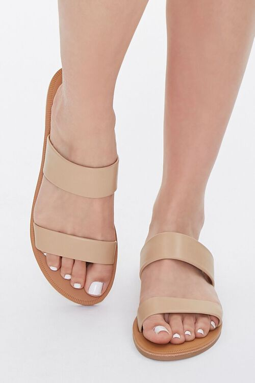 Faux Leather Flat Sandals, image 4