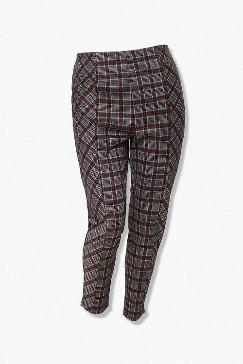 Plus Size Plaid Ankle Pants, image 1