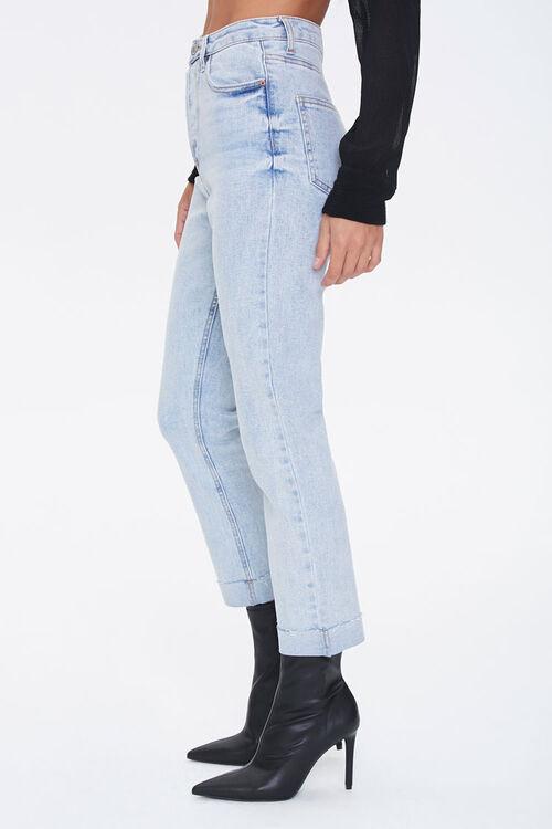 LIGHT DENIM Slim Straight High-Rise Jeans, image 3