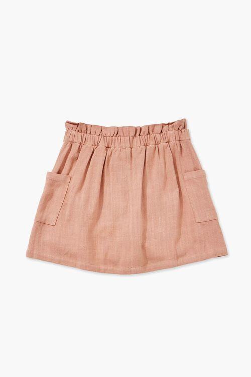 Girls A-Line Linen Skirt (Kids), image 2