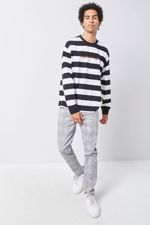Embroidered Graphic Striped Tee, image 4