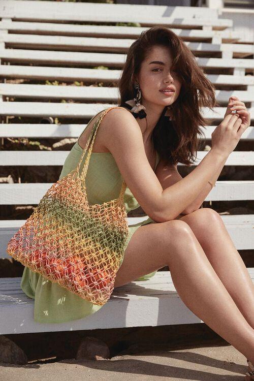 Striped Basketwoven Tote Bag, image 1