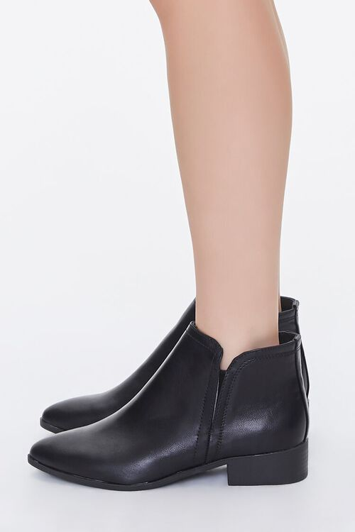 Faux Leather Notched Booties, image 2