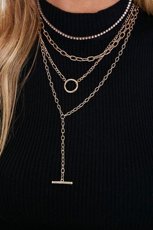 Bar & Toggle Layered Necklace, image 1