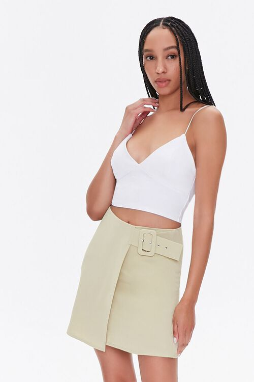 Belted Wrap Skirt, image 1