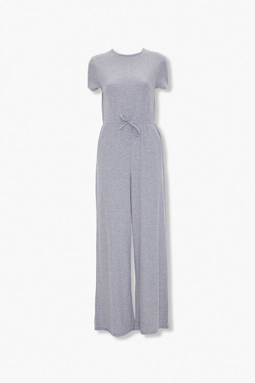 Heathered Wide Leg Jumpsuit, image 1