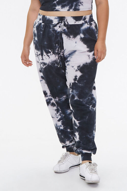 Plus Size Tie-Dye Top & Joggers Set, image 5