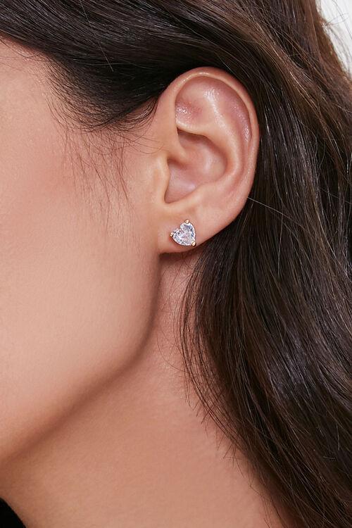 Faux Gem Heart Charm Necklace, image 3