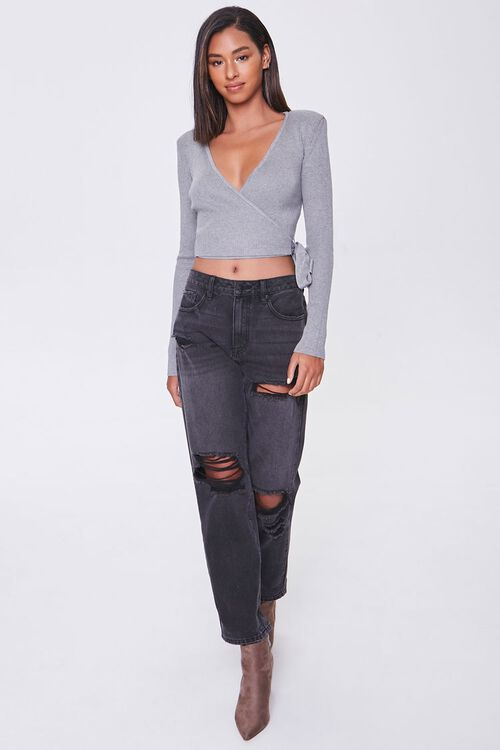 Surplice Shoulder-Pad Sweater, image 4