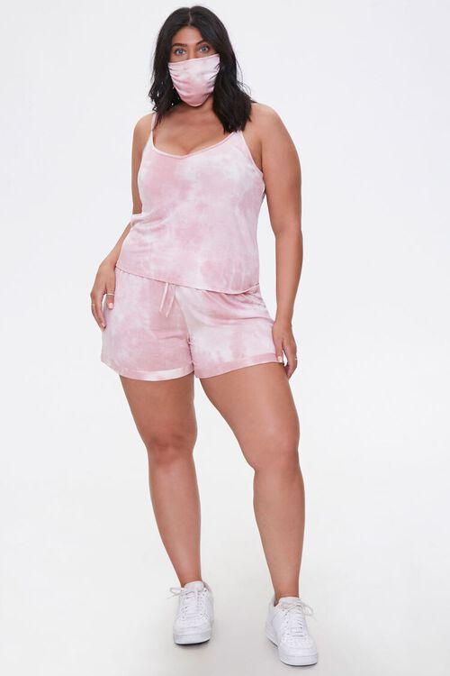 Plus Size Cami Shorts & Face Mask Set, image 4