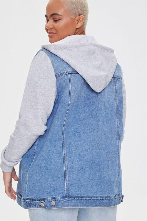 Plus Size Denim Combo Jacket, image 3