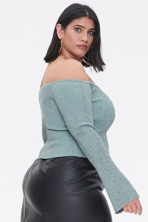 Plus Size Off-the-Shoulder Sweater, image 2