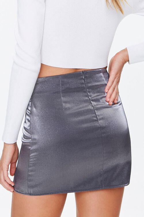 Metallic M-Slit Mini Skirt, image 4