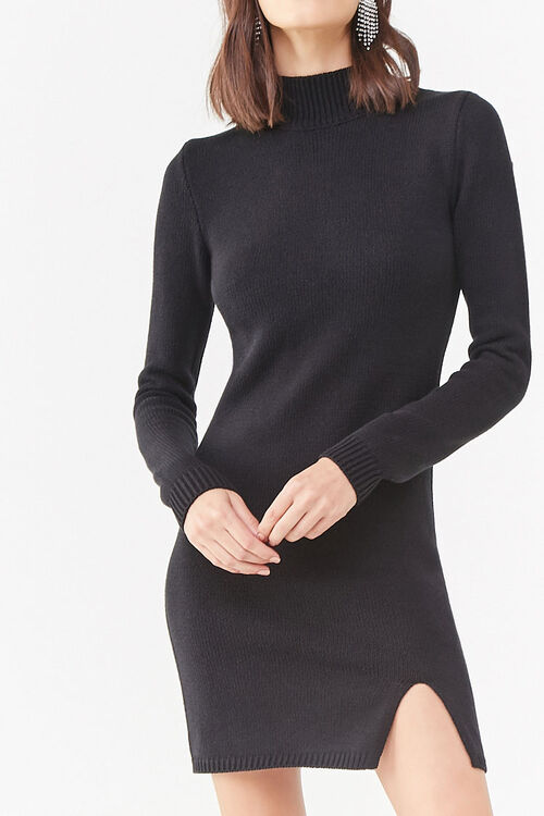 Mock Neck Sweater Dress, image 1
