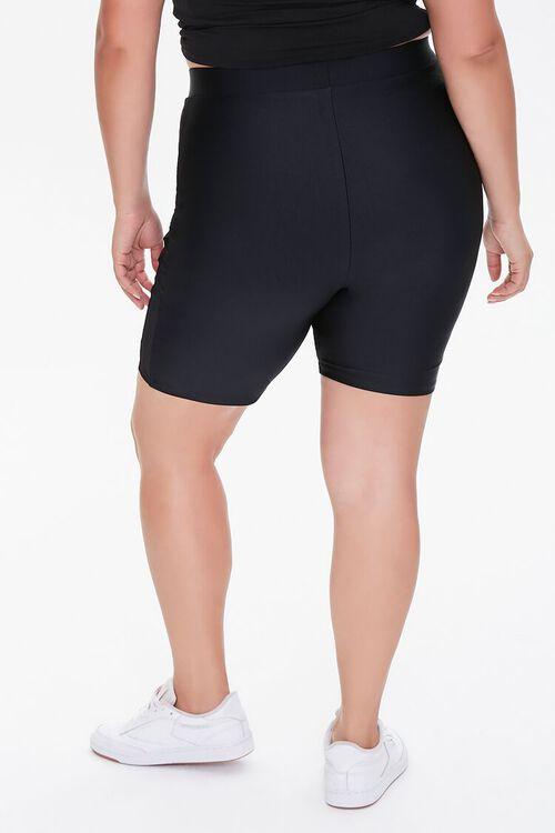 Plus Size Striped-Trim Biker Shorts, image 4