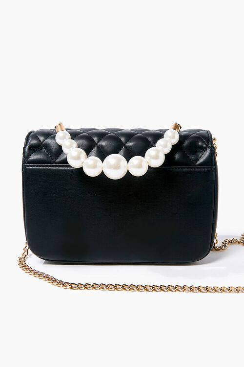 Quilted Faux Pearl Crossbody Bag, image 3