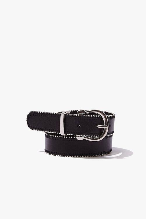 Studded Faux Leather Belt, image 1