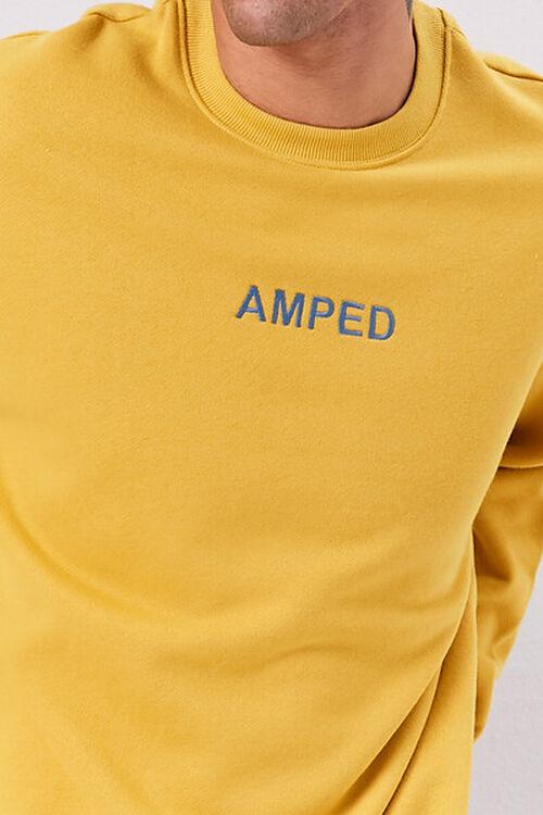 Amped Embroidered Graphic Fleece Sweatshirt, image 5